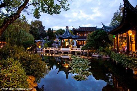lan su chinese garden portland weddings - Lan Su Chinese Garden